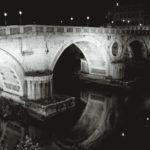 Ponte Sisto footbridge seen at night