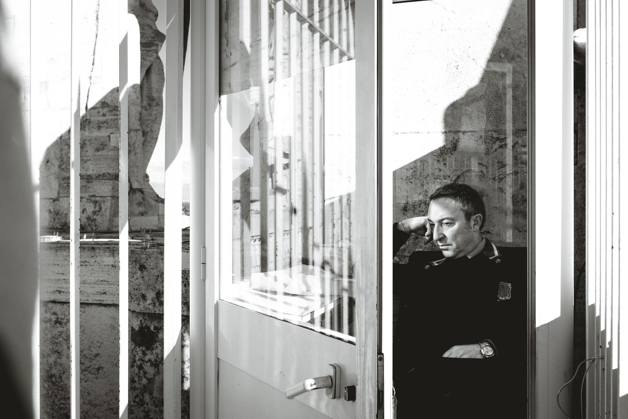 Vatican City Security Guard Sleeping