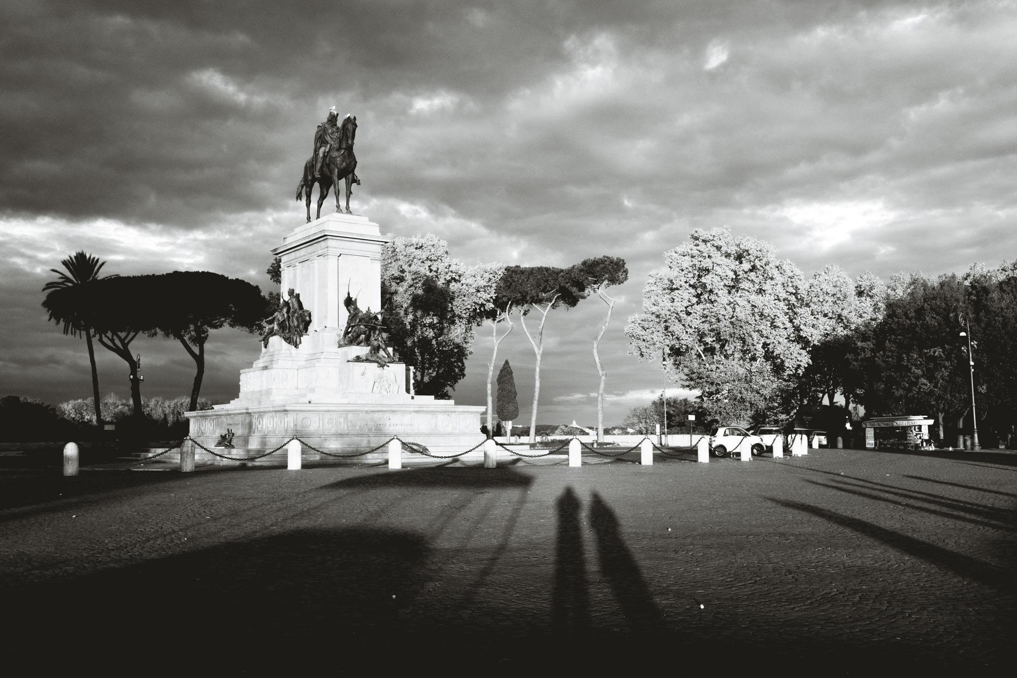Equestrian statue of Giuseppe Garibaldi on Gianicolo hill