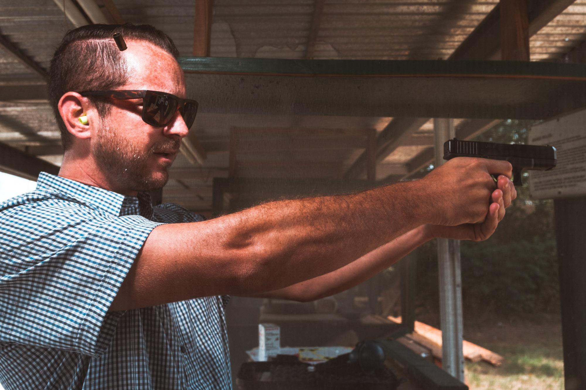 Ian Glock 9mm Garland Shooting Range