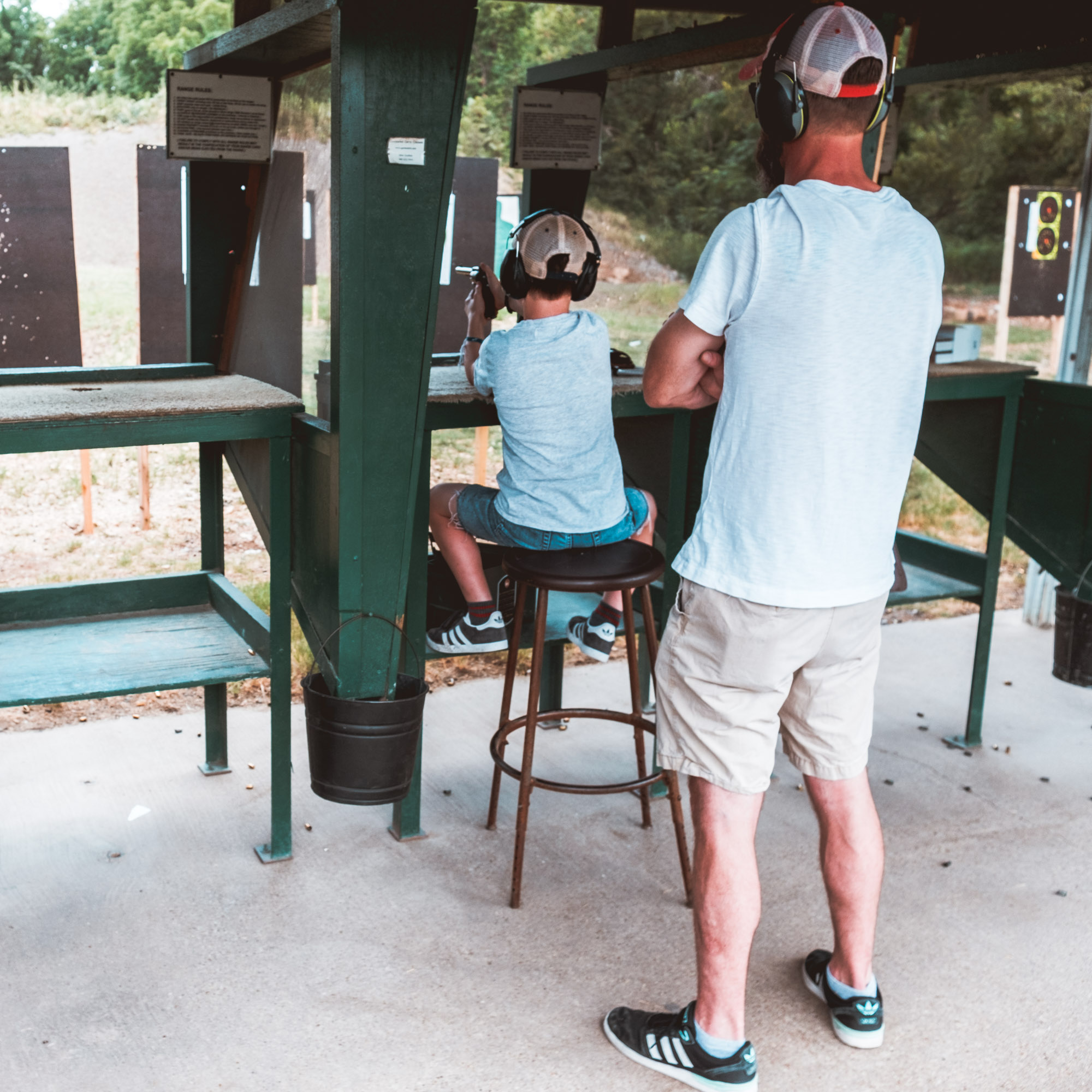 Father and Son at Garland Shooting Range