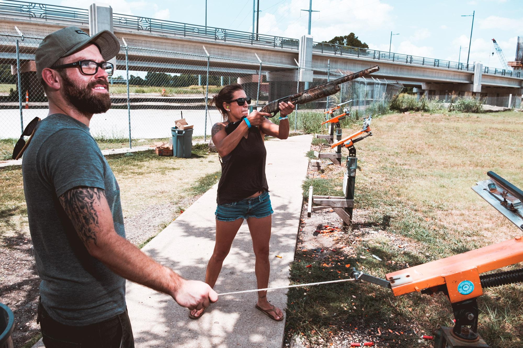 Bob and Michelle 12 Gauge Shotgun Garland Shooting Range