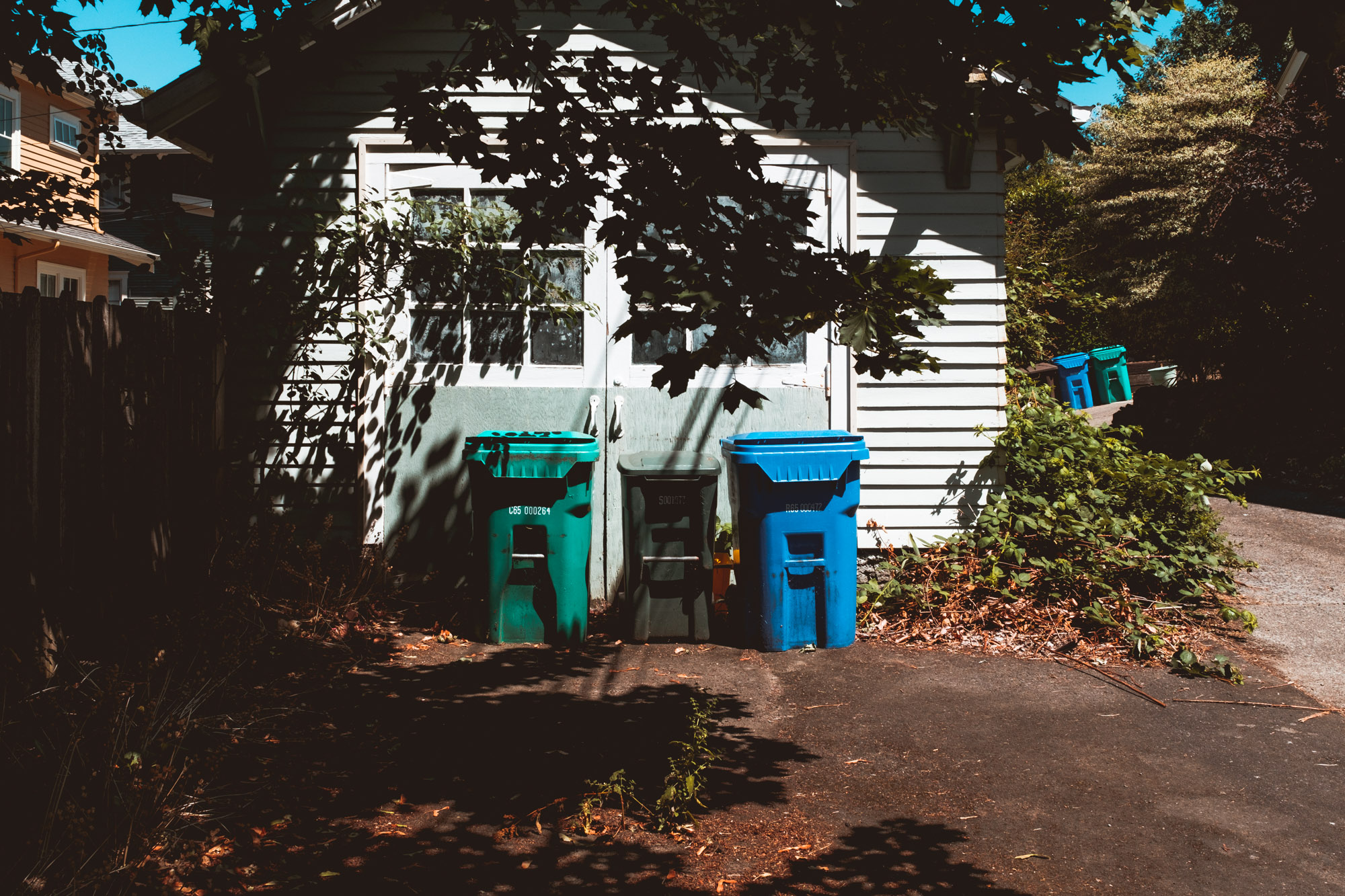 Trash cans-Portland-Oregon