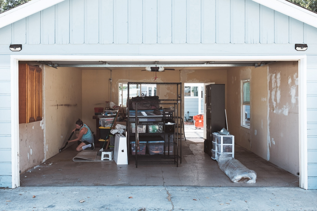 View of garage from alley in Anaheim CA Colony District